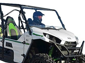 SuperATV Heavy Duty Scratch Resistant Full Windshield for Kawasaki Teryx 800/800 4 (2016