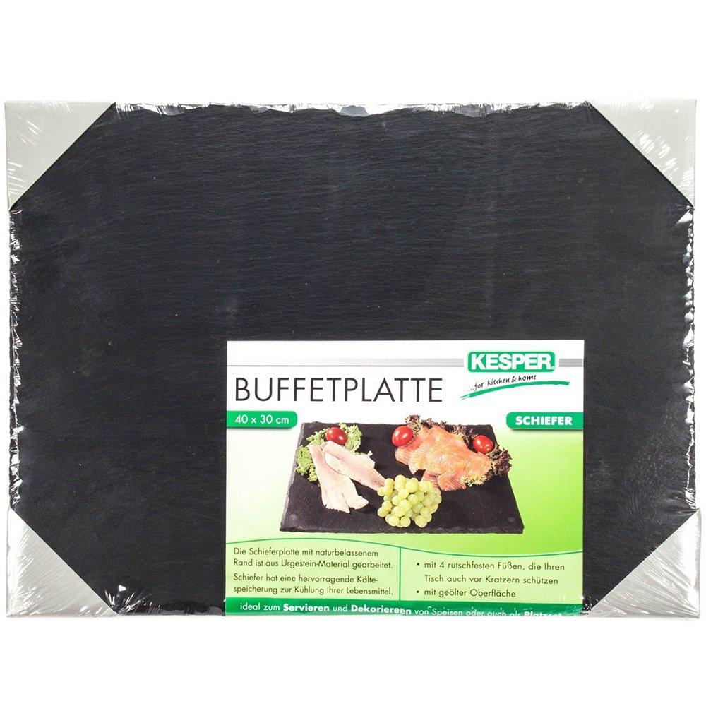 Kesper 38101 Buffet-Platte aus Schiefer, 40 x 30 cm: Amazon.de ...