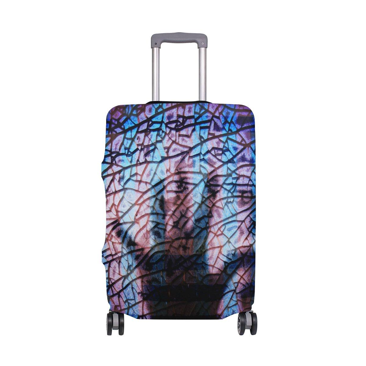 DEYYA Rainbow Stained Glass Splash Spandex Travel Luggage Cover Baggage Suitcase Protector Fits 18-32 Inch by DEYYA