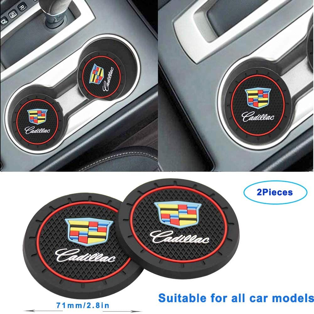 Denver Broncos Wall Stickz wesport 2.75 Inch Diameter Oval Tough Car Logo Vehicle Travel Auto Cup Holder Insert Coaster Can 2 Pcs Pack