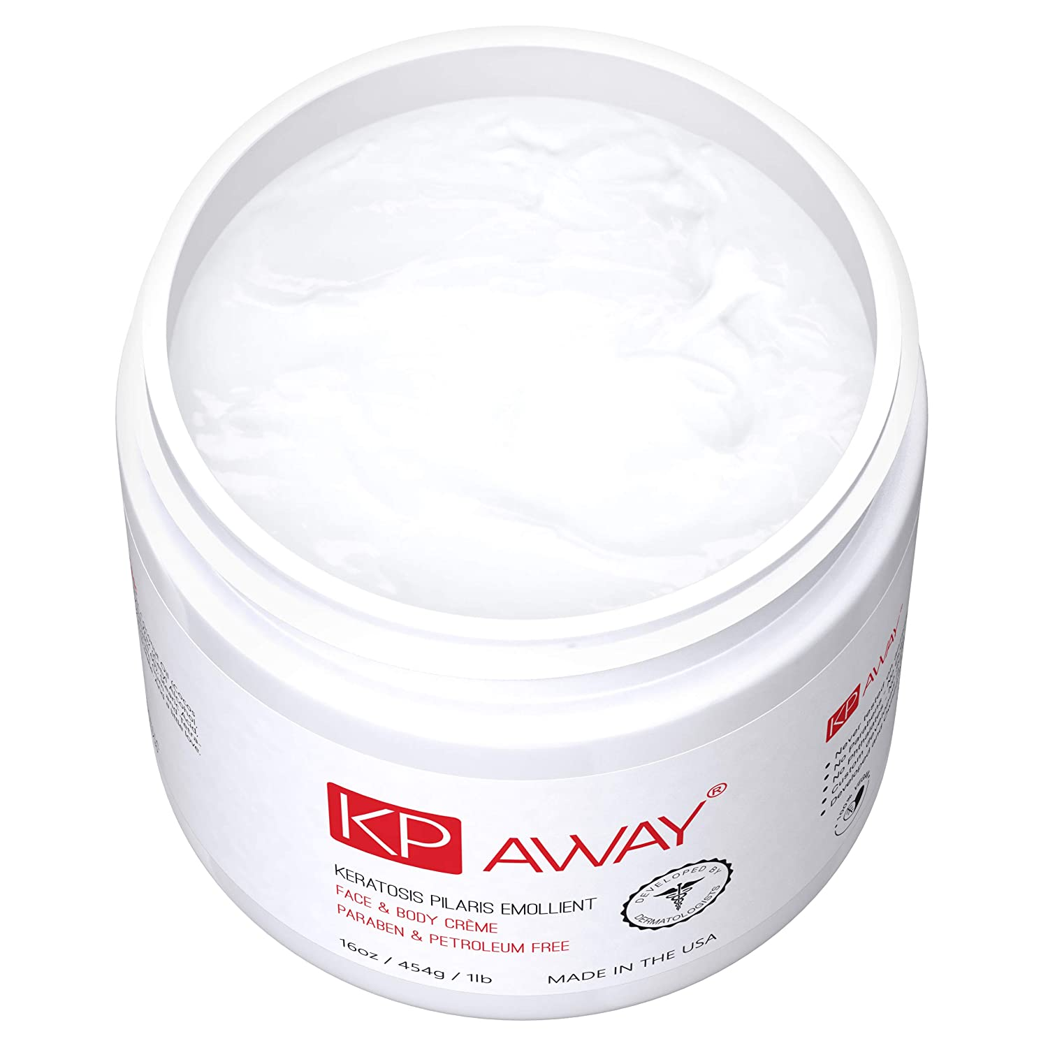 KPAway Keratosis Pilaris Treatment – Acid Free KP Cream, Lotion Made With Organic Coconut Oil, Baby Friendly, Paraben Free, For Rough Bumpy Skin 16oz