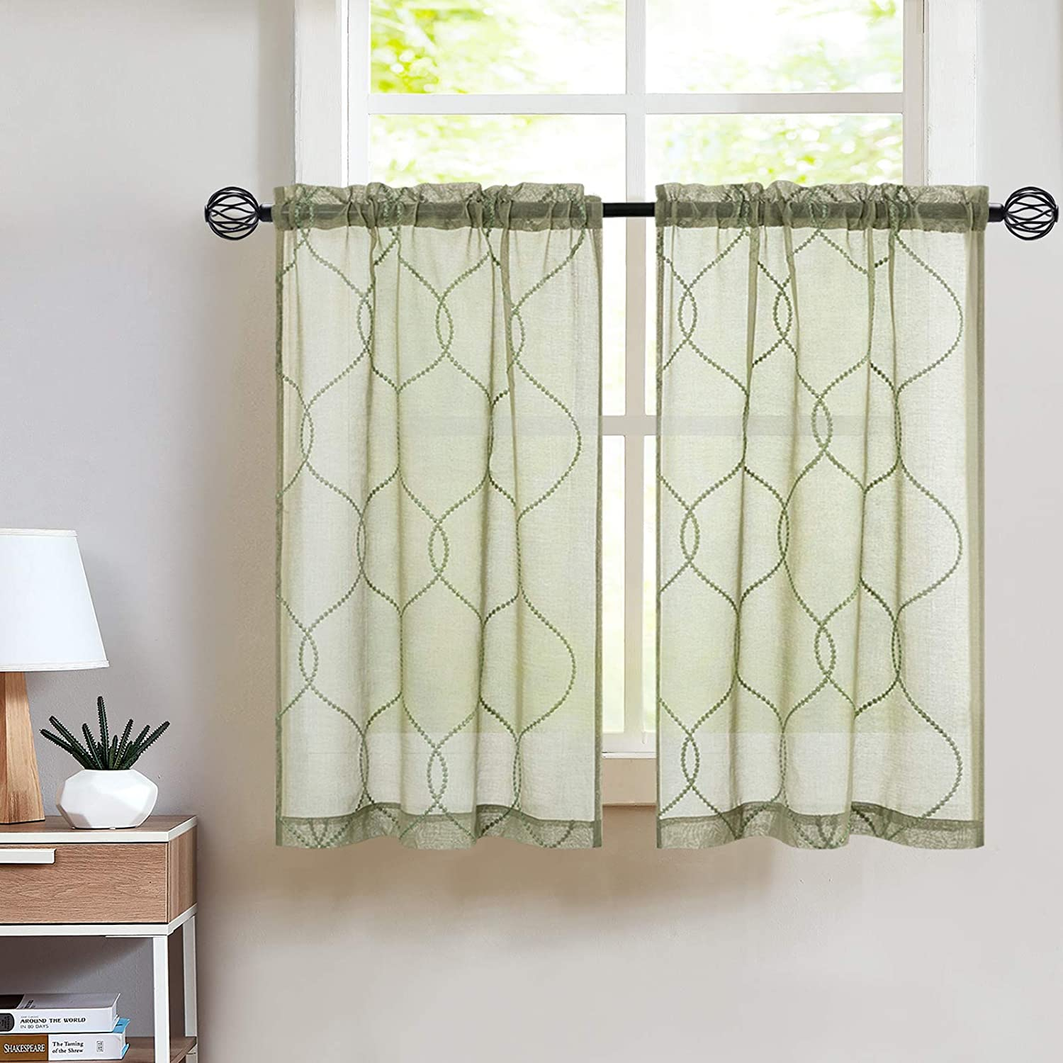 Astounding Gallery Of Green Kitchen Curtains Concept Sempoel Motor