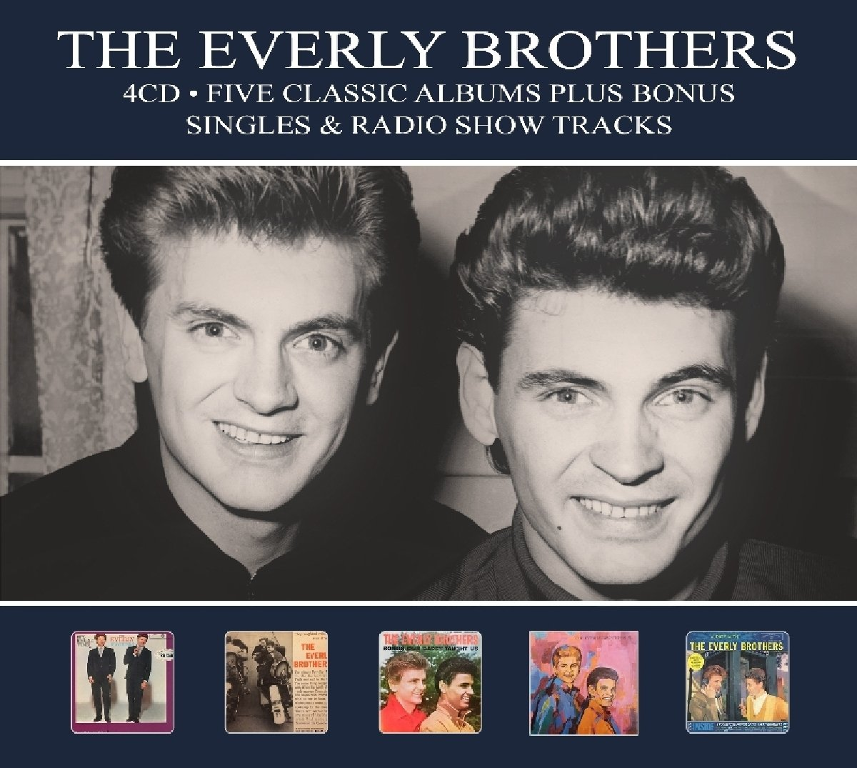 CD : The Everly Brothers - 5 Classic Albums Plus (Digipack Packaging, Germany - Import)