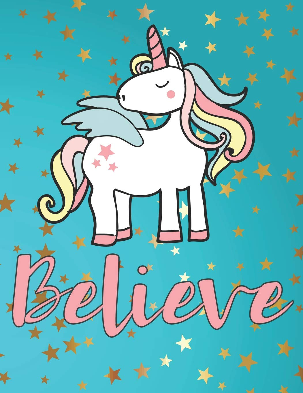 - Believe: Alicorn Unicorn Activity Book: Coloring Pages, Dot Grids
