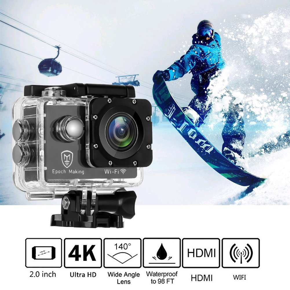 Epoch Making Action Camera, 4K Ultra HD WIFI Waterproof Sports Action Camera With 2-INCH LCD For Racing,Riding,Motorcycle,Surfing,Diving,Snorkeling,and More Water Sports by Epoch Making (Image #5)