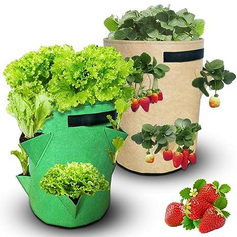 BestParnter - Bolsa para Cultivo de Patatas, Brown+Green ...