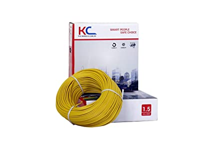 KC Cab PVC Insulated Wire 90 meter coil(Yellow)