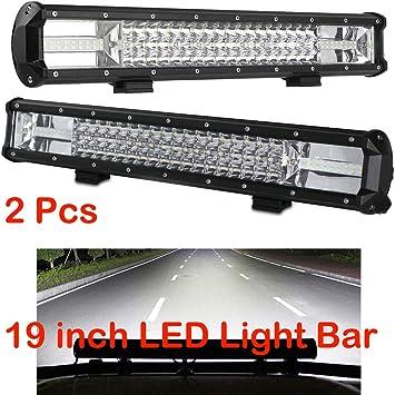 2x 6inch 18W 6 LED Work Light Spot Flood Beam Combo Truck Car Offroad Lamp IP68