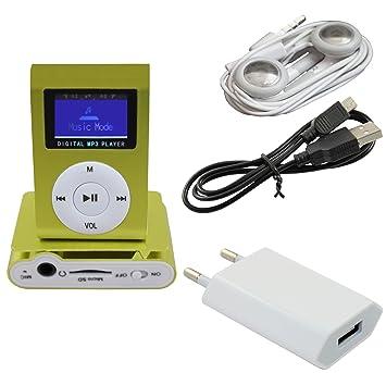 iPrime® Mini reproductor MP3 con LCD hasta 32 GB sin tarjeta ...