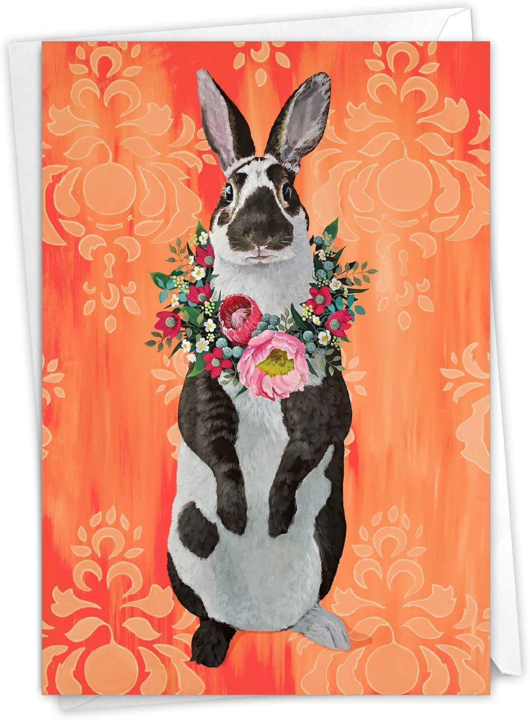 Happy Easter Note Cards  Notecards  Blank Inside  Blank Envelopes  Set of 10  Bunny  Red  Sign  Spring  Wave  Fun  Gift  Cute!!!
