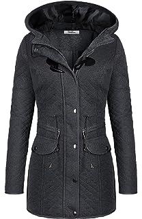 BodiLove Womens Sophisticated Duffle Coat Detachable Hood