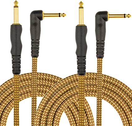 2 4 or 5 Meter Gold Plated Guitar Lead//Instrument Cable 1 3
