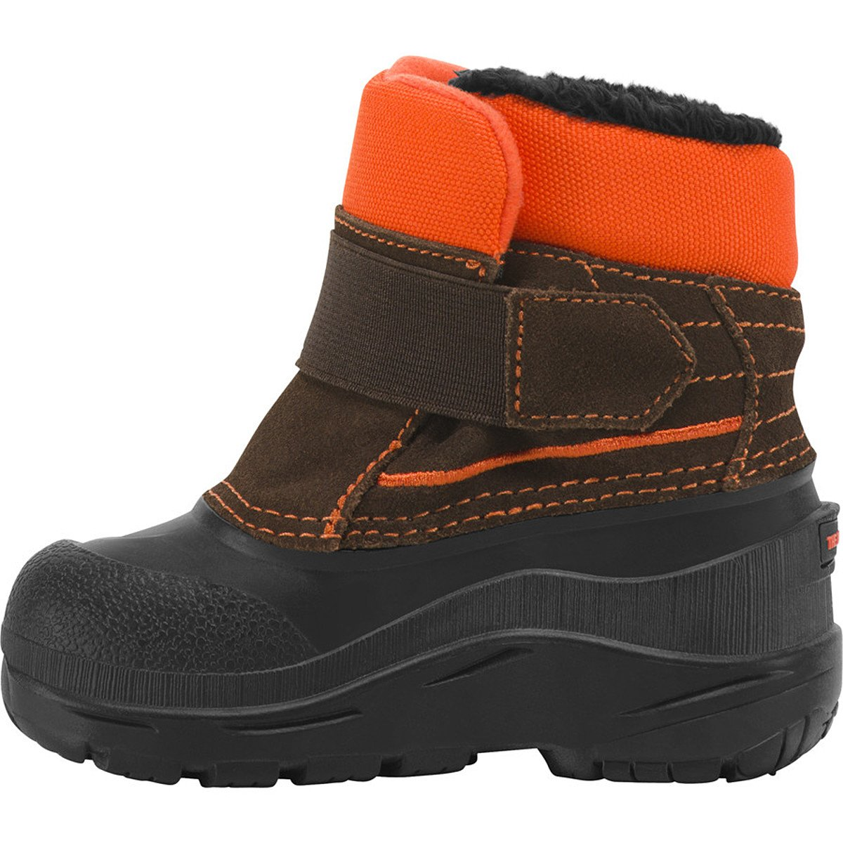 The North Face Kids Snow Powder Hound Boots Brown Orange (Toddler) Imported