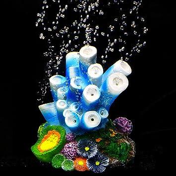 SLOME - Adorno de Coral para Acuario, diseño de Conchas de Coral con Burbujas de