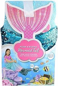 "Jay Franco & Sons Plush & Playful 55-Inch Tail Blanket (Ocean Blue Mermaid, 55"")"