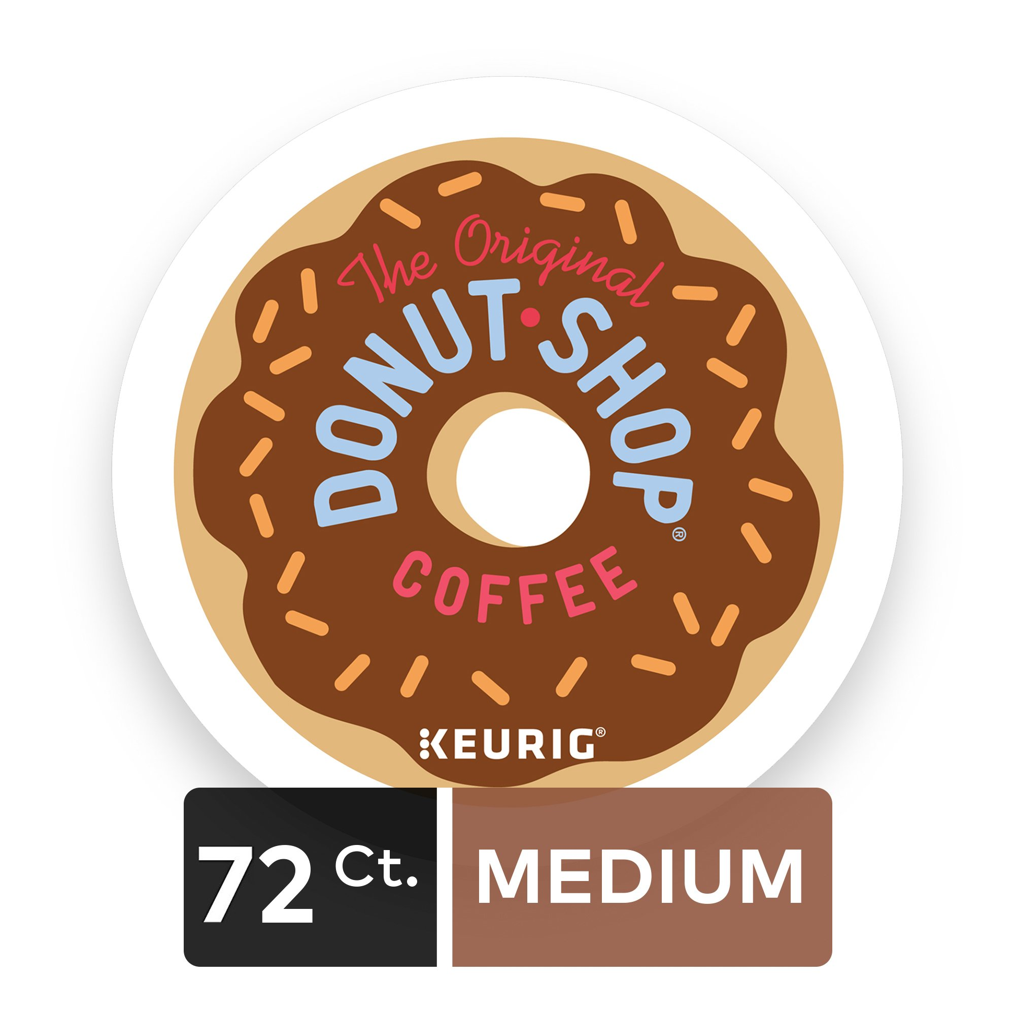 The Original Donut Shop Regular Keurig Single-Serve K-Cup Pods, Medium Roast Extra Bold Coffee, 72 Count (6 Boxes of 12 Pods)