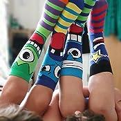 United Oddsocks UK12-6 EUR 30.5-39 US 12.5-7 Multi Skater 3 calzini per ragazzi