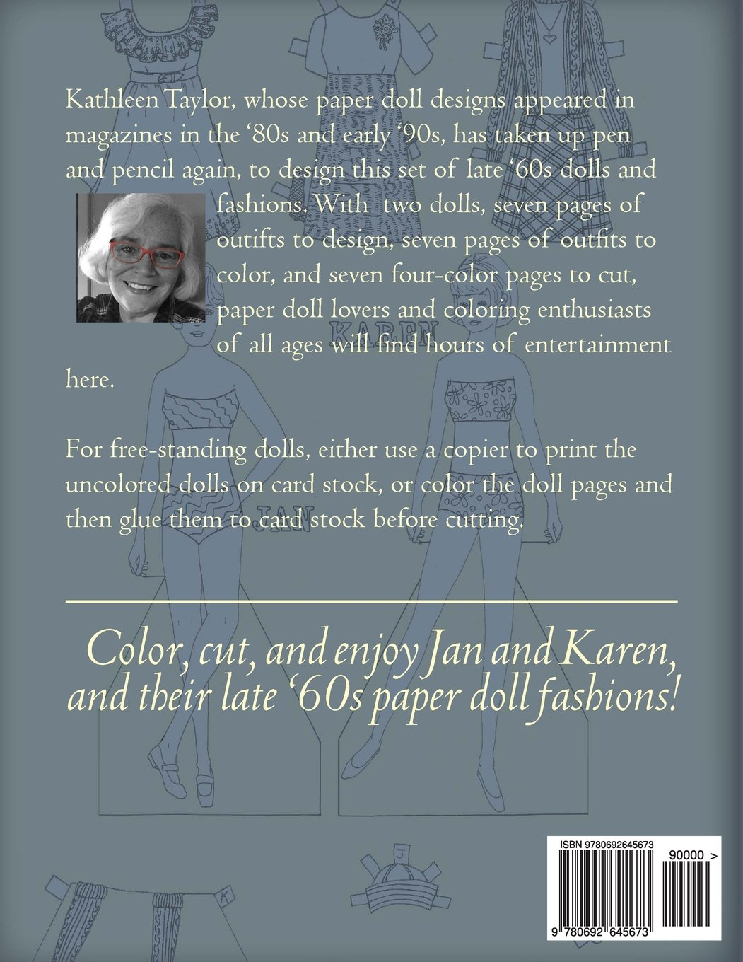 Jan and Karen, A Paper Doll Coloring Book: Late 60\'s Fashions to ...