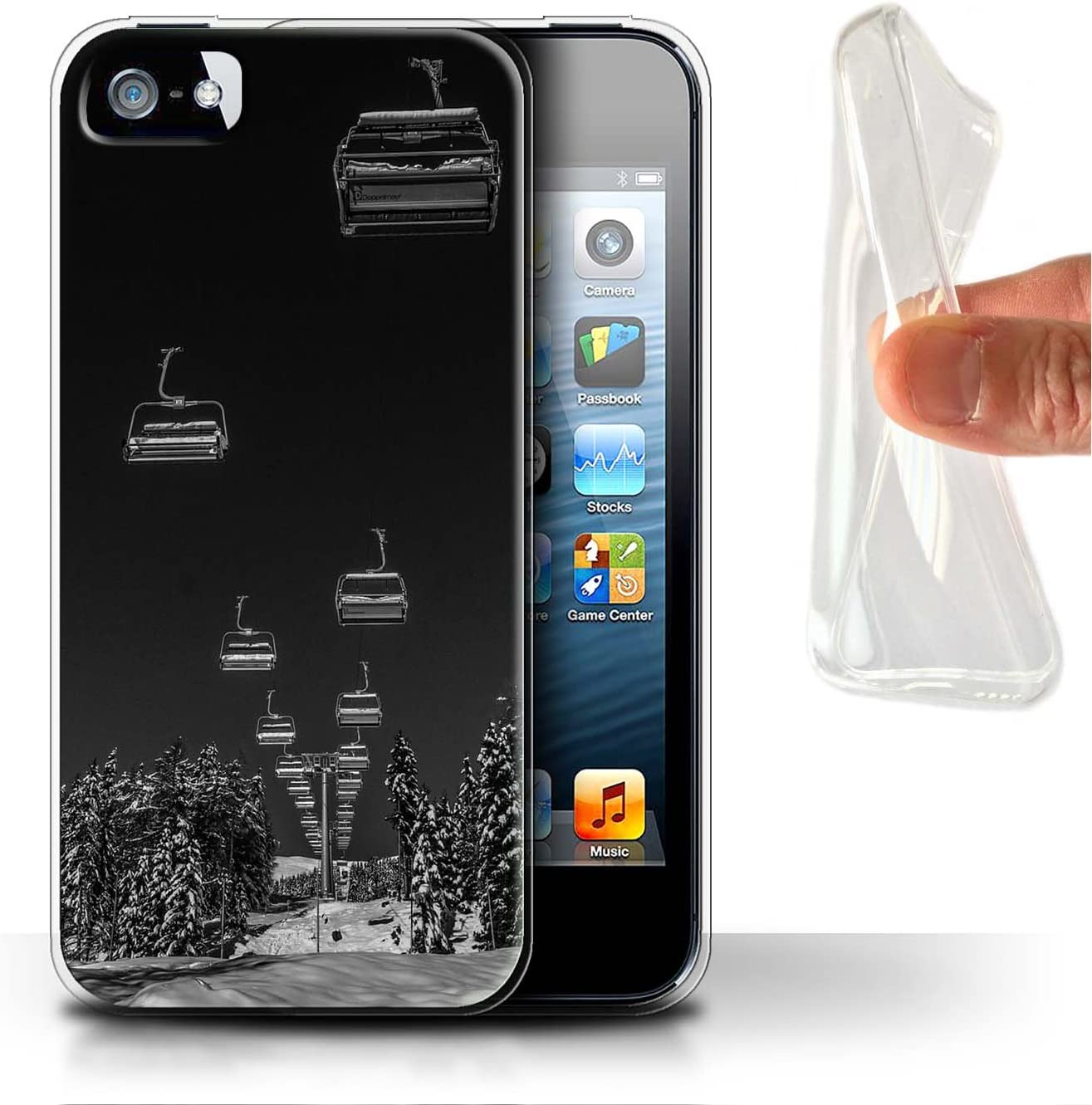 Gel Apple iPhone X//10 STUFF4/ Phone Case//Cover//Skin//IP-gc//esqu/í Collection Snowy Scenery
