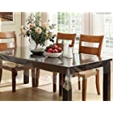 Kuber Industries PVC 6 Seater Transparent Dining Table Cover -Plain