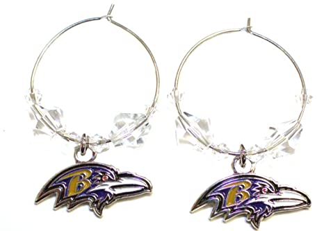 a0c1a1e2 NFL Licensed Clear Bead Hoop Dangle Earrings