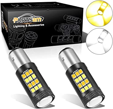 2x 2018 1157 2057 2357A Cree LED 8 SMD Front Turn Signal Light Stop Bulbs Lamp