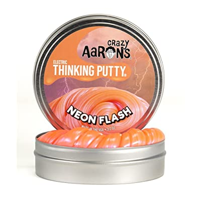 Crazy Aaron's Thinking Putty Small Tins (5Cm) Selection (Neon Flash)