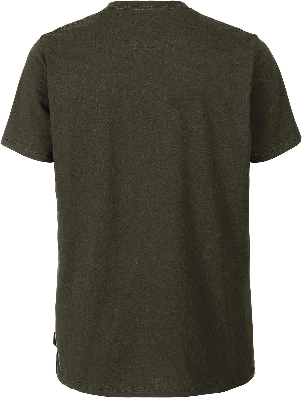 Seeland Flint Jagd T-Shirt in Grizzly Brown und Dark Olive J/äger T-Shirt