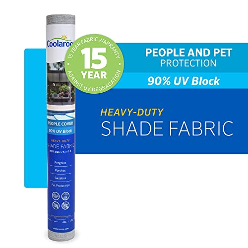Coolaroo 457815 Shade Fabric with 90 UV Protection 6 x15 , 6 x 15 , Stone