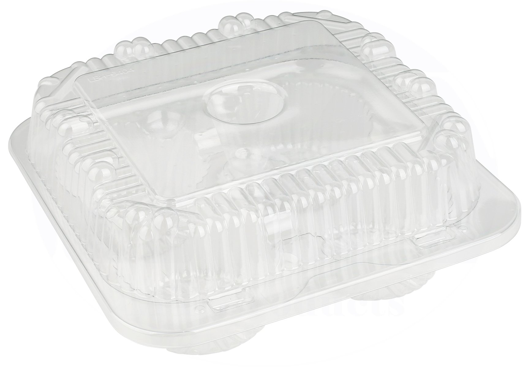 4 Compartment Hinged Clear Cupcake/Muffin Takeout Container by MT Products - (15 Pieces)