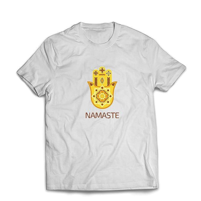 lepni.me Camisetas Hombre Namaste Hmasa, Amuleto Espiritual ...
