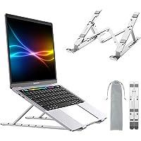 Smilee Laptop Stand Adjustable, Ergonomic Portable and Adjustable Aluminum Laptop Stand for Desk, Cooling Aluminum…