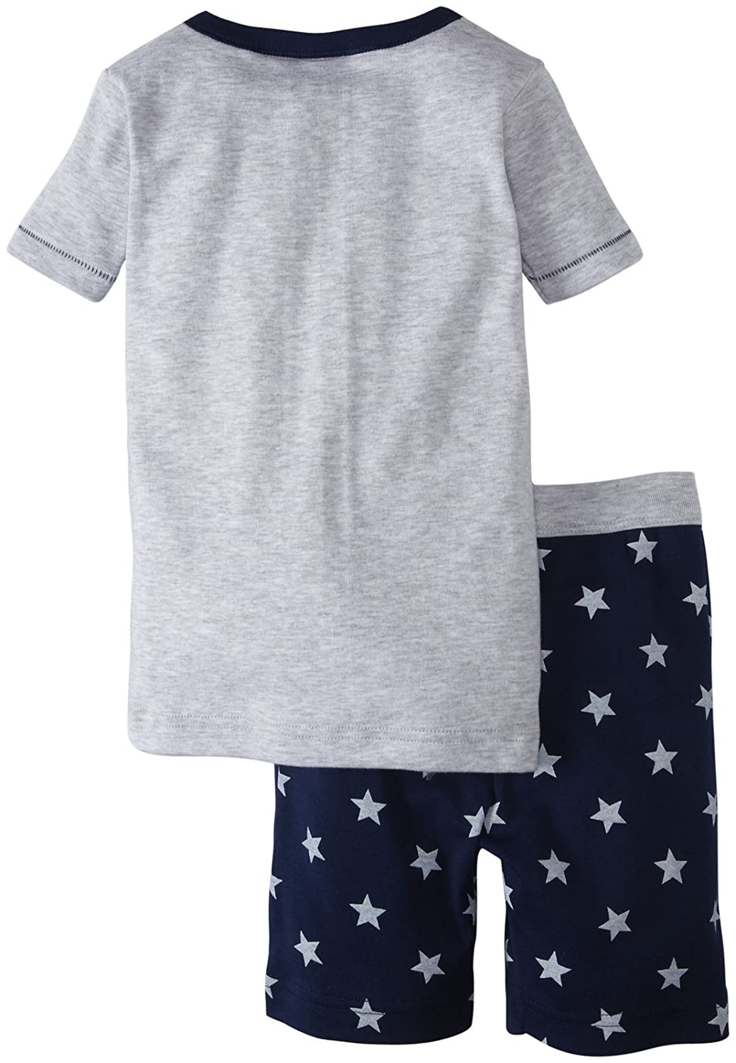 Grey//Navy-2 Years Toddler Kids Petit Bateau Star Print Shorts Set