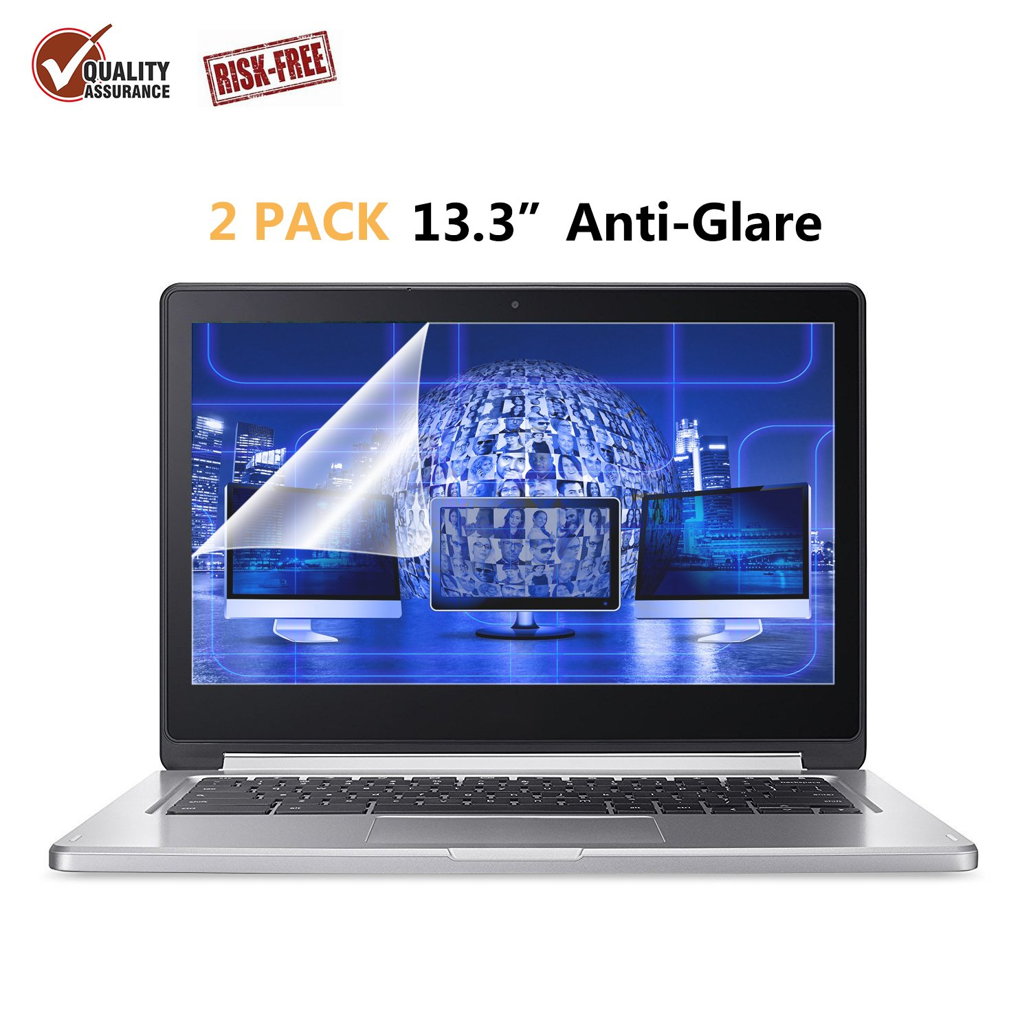 "on sale 7c97b 4332e 2-Pack FORITO 13.3"" Scratch Proof Laptop Screen Protector Anti Glare(Matte)  Screen Cover Compatible with ..."