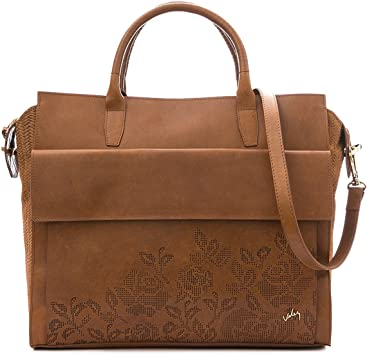 VÉLEZ 21482 Women Leather Business Briefcase | Maletín De Cuero Mujer Honey