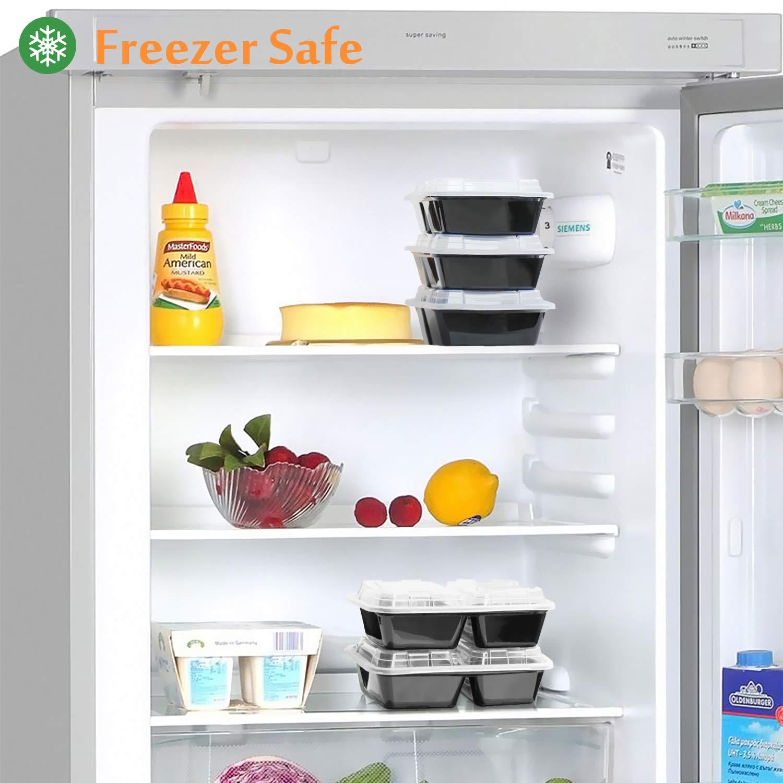Enther comida Prep recipientes [20 unidades] 2 compartimento ...