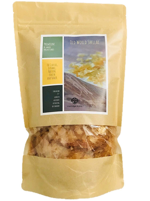 De-Waxed Super Blonde Shellac Flakes 1 lb. (16 oz.)