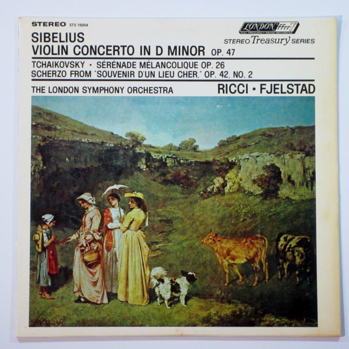 Sibelius: Violin Concerto in D Minor, Op.47 and Tchaikovsky: Serenade Melancolique, Op.26 and Scherzo From ''Souvenir D'un Lieu Cher, Op.42, No.2 Lp /Ruggiero Ricci, Violin /The London Symphony Orchestra / Oivin Fjelstad, Conductor by LONDON