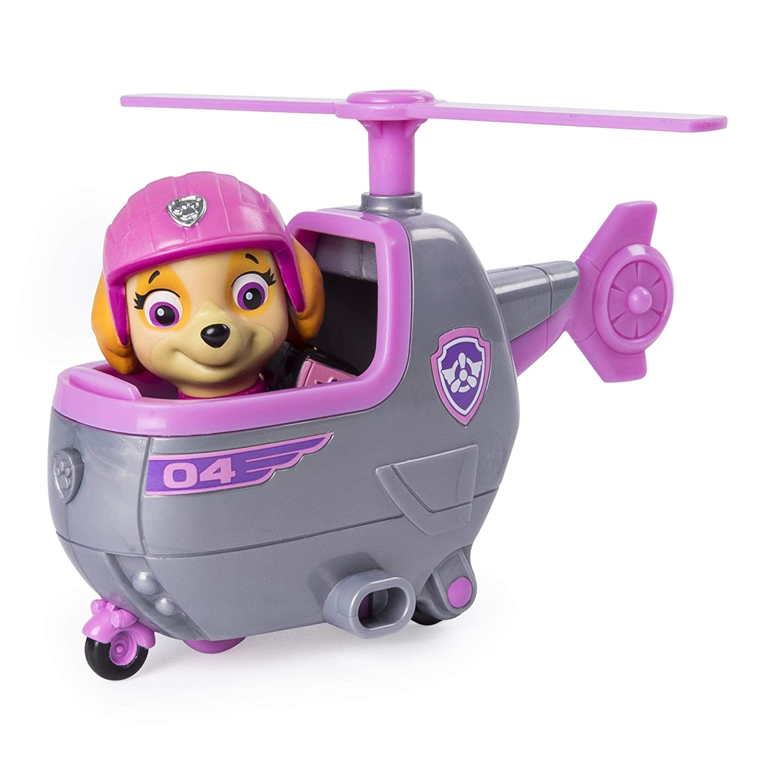 Ages 3 and Up Spin Master 20101380-6046667 PAW Patrol Ultimate Rescue Skyes Mini Helicopter with Collectible Figure