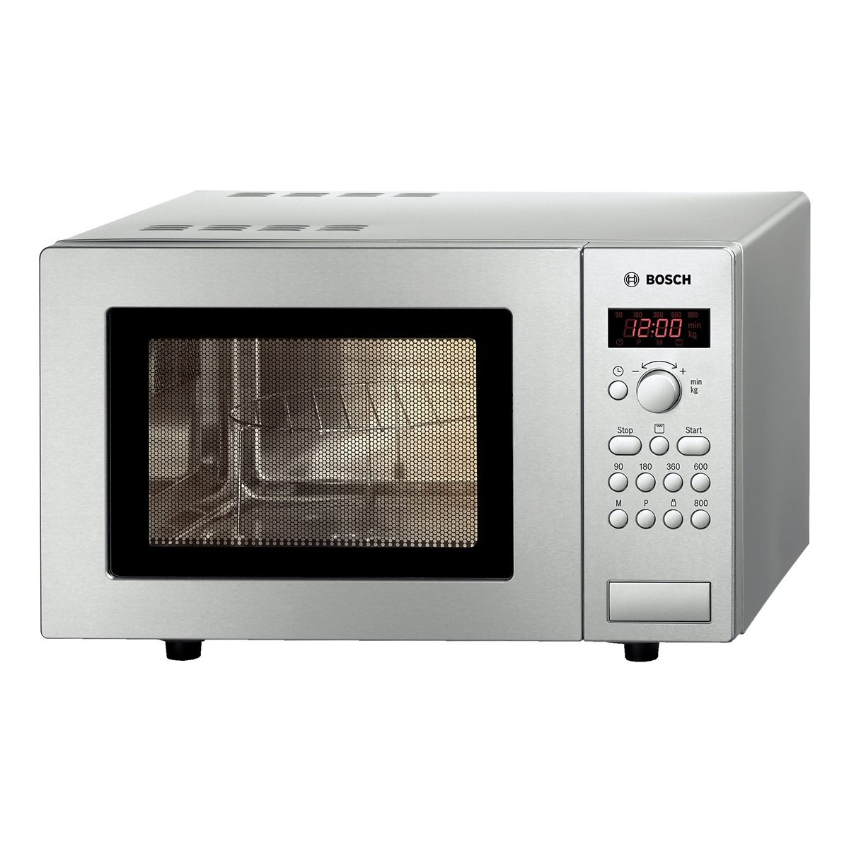 Bosch freestanding microwave oven with quartz grill, 17ltr, stainless steel, HMT75G451B