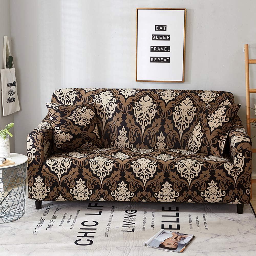 Lifemaison Copridivano 1 2 3 4 Posti Fodera per Divano Sofa con Stampa di Fiori Elastico Copridivano all-Inclusive 1 PCS