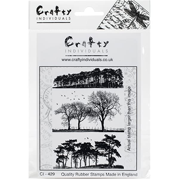 4.75 x 7 Trees Galore Crafty Individuals Unmounted Rubber Stamp