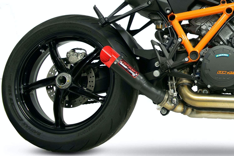 Coffman/'s Shorty Slip On Muffler Exhaust for 2020 KTM 1290 Superduke R with Black Tip