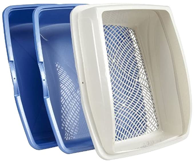 Sifting Cat Pan Litter Box With Frame Kitty Van Ness CP5 Easy Clean:New