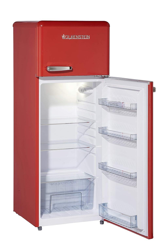Frigor/ífico combi con congelador estilo retro GK212.4RT color rojo brillante A++ 206 l