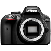 Nikon D3300 Digital SLR Camera (24.2 MP, 3 inch LCD) - Black (Certified Refurbished)
