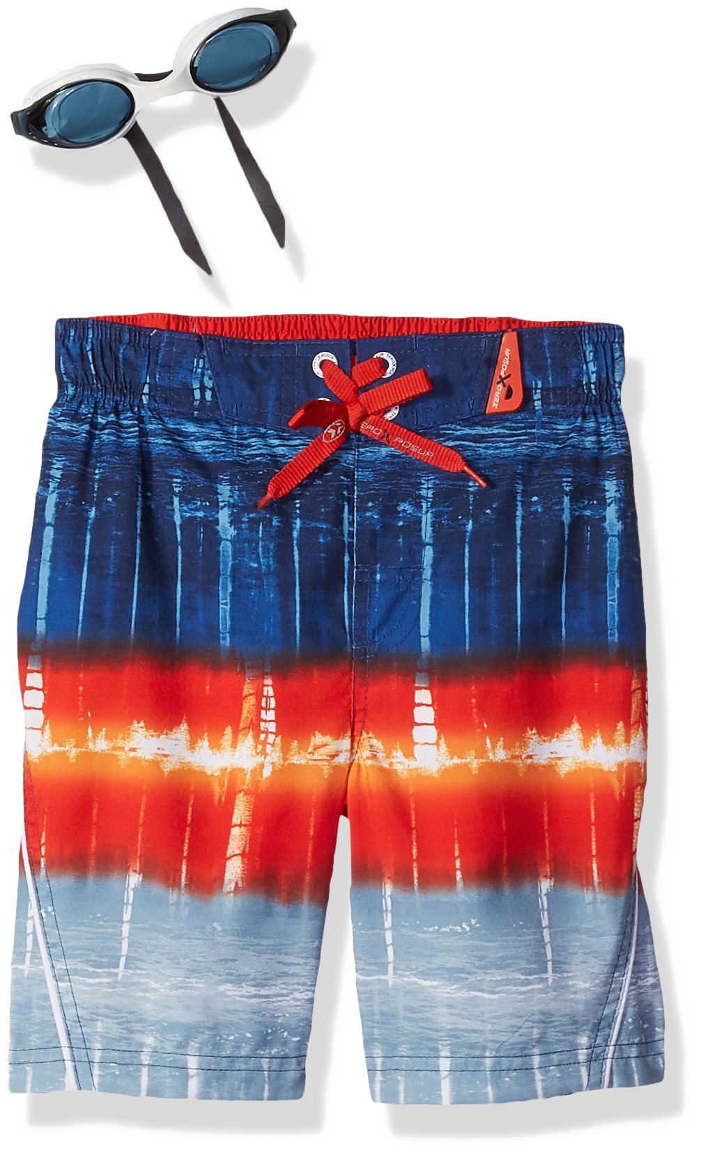 ZeroXposur Big Boys' Ocean Tie Dye Swim Trunk, New Navy, XL-18/20