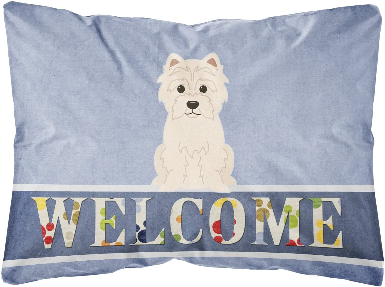 Caroline's Treasures BB5623PW1216 Westie Welcome Canvas Fabric Decorative Pillow