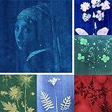 SunCreations Cyanotype Paper, High Sensitivity Sunprint Nature Printing Paper,8.2'' x 11.4'' A4 18-Sheets Sun/Solar…