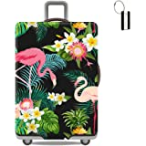 XMBHome Travel Luggage Cover Suitcase Protector Flamingos Bag & Luggage Tag Fits 18-32 inch Luggage (XL(29-32 inch Luggage) Flamingos)